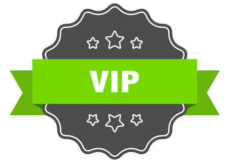 vip isolated seal. vip green label. vip