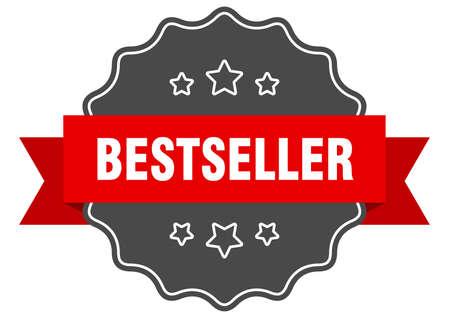 bestseller red label. bestseller isolated seal. bestseller