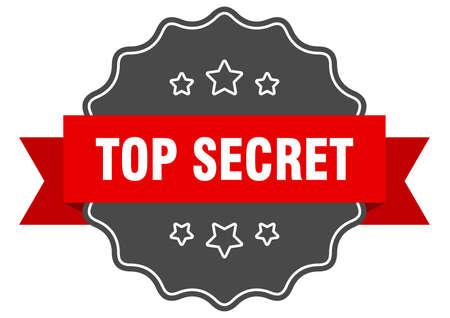 top secret red label. top secret isolated seal. top secret