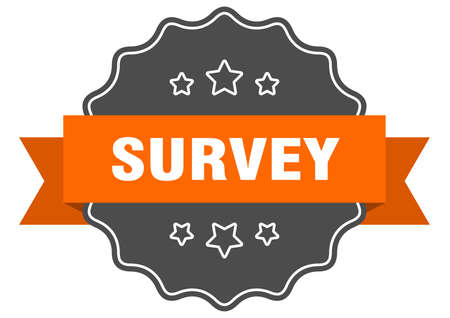 survey isolated seal. survey orange label. survey