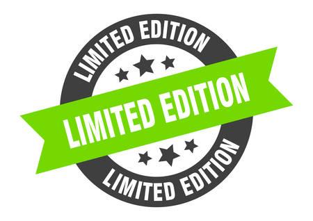 limited edition sign. limited edition black-green round ribbon sticker Vektoros illusztráció