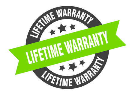 lifetime warranty sign. lifetime warranty black-green round ribbon sticker Stock Vector - 131018034