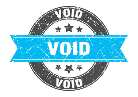 void round stamp with turquoise ribbon. void