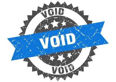 void grunge stamp with blue band. void