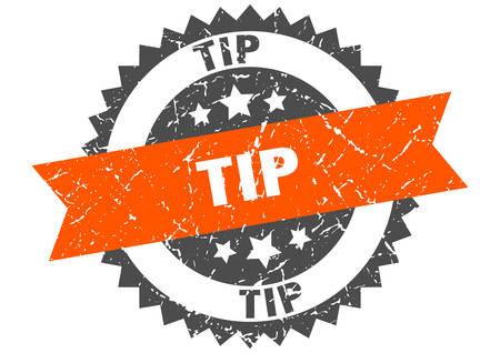 tip grunge stamp with orange band. tip