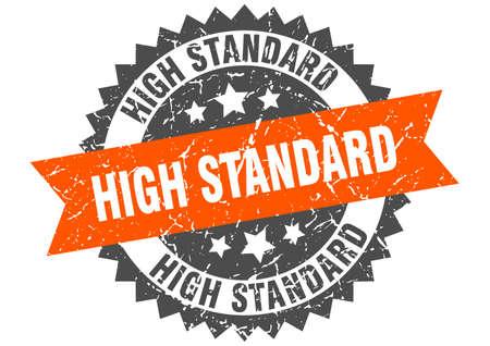high standard grunge stamp with orange band. high standard Çizim