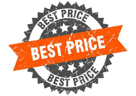 best price grunge stamp with orange band. best price Stockfoto - 133345275