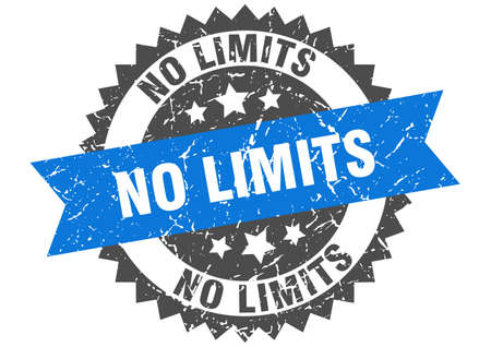 no limits grunge stamp with blue band. no limits