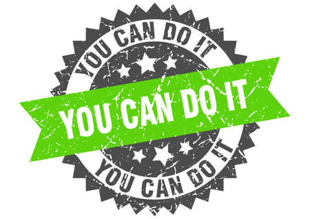 you can do it grunge stamp with green band. you can do it Vektorové ilustrace