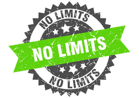no limits grunge stamp with green band. no limits