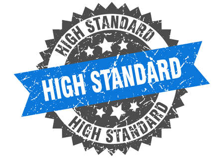 high standard grunge stamp with blue band. high standard Çizim