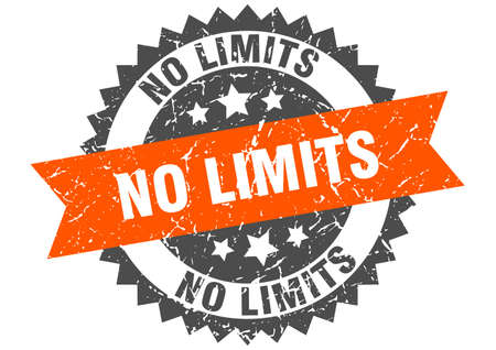 no limits grunge stamp with orange band. no limits