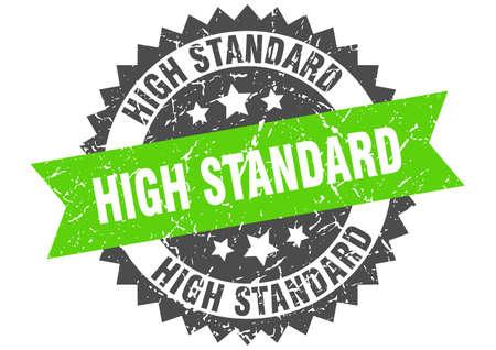 high standard grunge stamp with green band. high standard Çizim