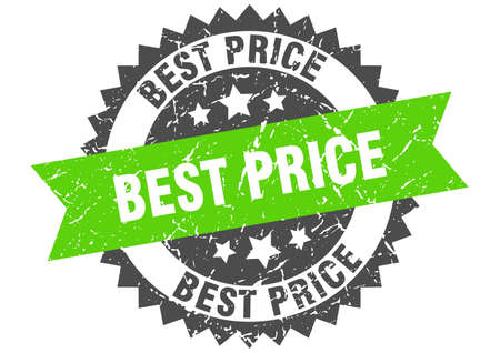 best price grunge stamp with green band. best price Stockfoto - 133389459