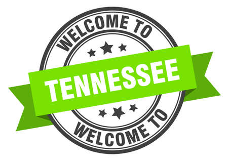 Tennessee stamp. welcome to Tennessee green sign Illustration