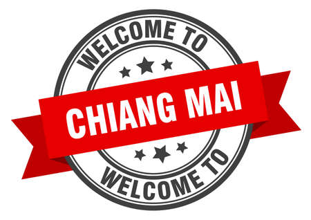 Chiang mai stamp. welcome to Chiang mai red sign Иллюстрация