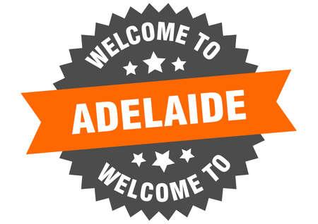 Adelaide sign. welcome to Adelaide orange sticker Illustration