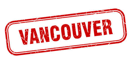 Vancouver stamp. Vancouver red grunge isolated sign