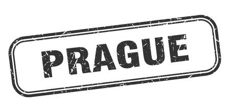 Prague stamp. Prague black grunge isolated sign