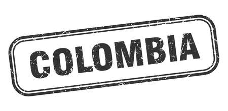 Colombia stamp. Colombia black grunge isolated sign 向量圖像
