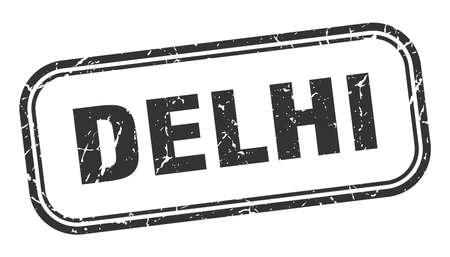Delhi stamp. Delhi black grunge isolated sign