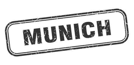 Munich stamp. Munich black grunge isolated sign