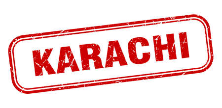 Karachi stamp. Karachi red grunge isolated sign