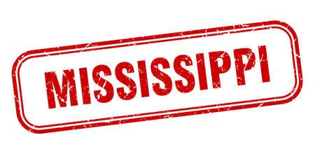 Mississippi stamp. Mississippi red grunge isolated sign