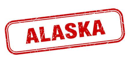 Alaska stamp. Alaska red grunge isolated sign