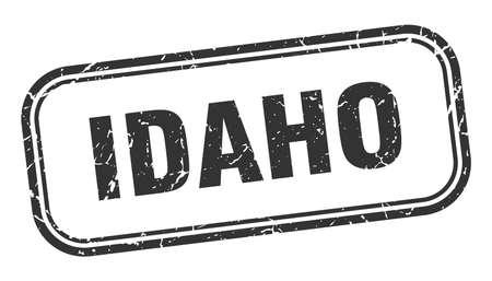 Idaho stamp. Idaho black grunge isolated sign 向量圖像