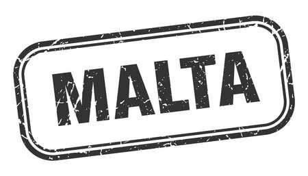 Malta stamp. Malta black grunge isolated sign