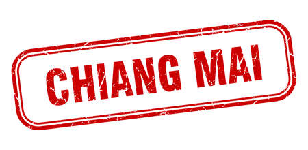 Chiang mai stamp. Chiang mai red grunge isolated sign