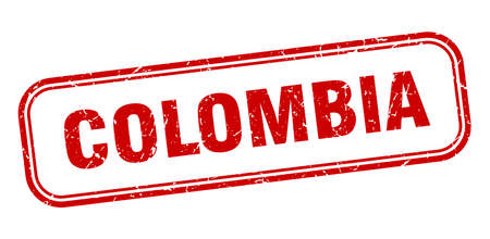 Colombia stamp. Colombia red grunge isolated sign