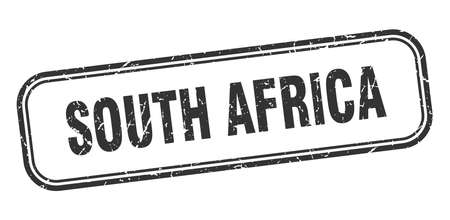 South Africa stamp. South Africa black grunge isolated sign