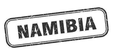 Namibia stamp. Namibia black grunge isolated sign Illustration