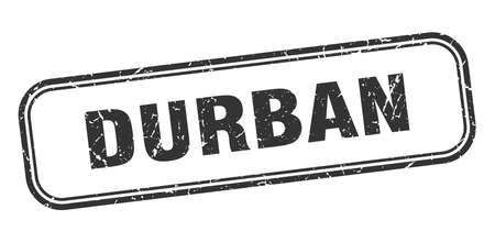 Durban stamp. Durban black grunge isolated sign