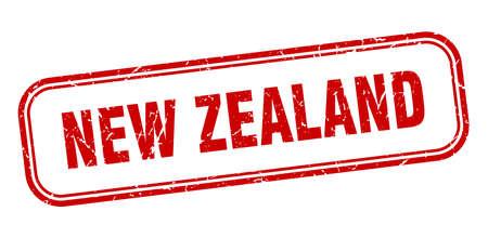 New Zealand stamp. New Zealand red grunge isolated sign Ilustracja