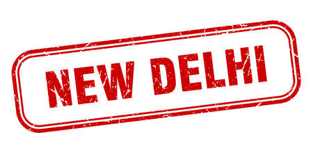 New Delhi stamp. New Delhi red grunge isolated sign