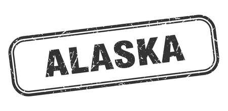 Alaska stamp. Alaska black grunge isolated sign