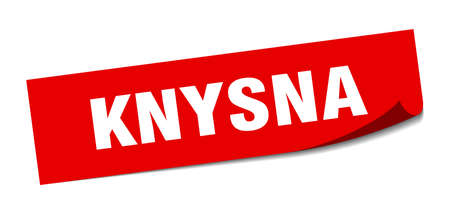 Knysna sticker. Knysna red square peeler sign