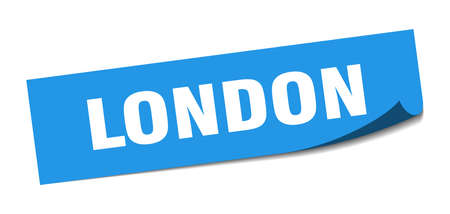 London sticker. London blue square peeler sign