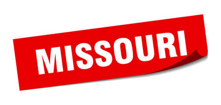 Missouri sticker. Missouri red square peeler sign