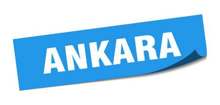 Ankara sticker. Ankara blue square peeler sign