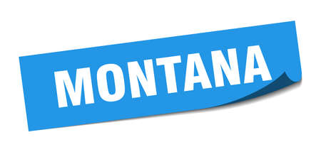 Montana sticker. Montana blue square peeler sign