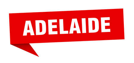 Adelaide sticker. Red Adelaide signpost pointer sign