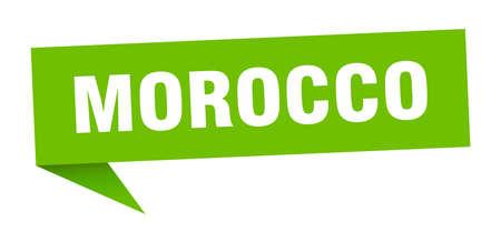 Morocco sticker. Green Morocco signpost pointer sign  イラスト・ベクター素材