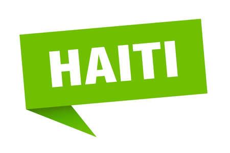 Haiti sticker. Green Haiti signpost pointer sign