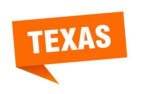 Texas sticker. Orange Texas signpost pointer sign
