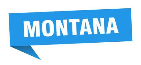 Montana sticker. Blue Montana signpost pointer sign