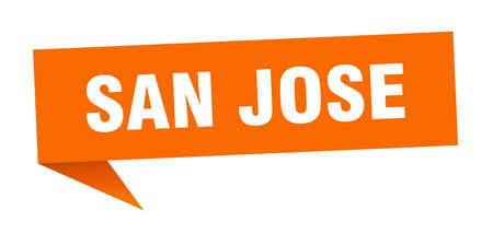 San Jose sticker. Orange San Jose signpost pointer sign  イラスト・ベクター素材